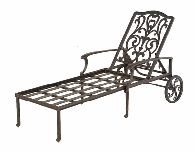 The Bel Aire Collection Commercial Cast Aluminum Chaise Lounge
