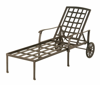 The Belstaff Collection Commercial Cast Aluminum Chaise Lounge