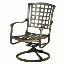 The Belstaff Collection Commercial Cast Aluminum Swivel Dining Chair