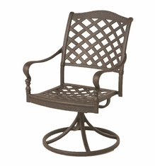 The Borio Collection Commercial Cast Aluminum Swivel Dining Chair