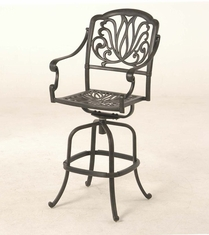 The Del-Mar Collection Commercial Cast Aluminum Swivel Bar Height Chair