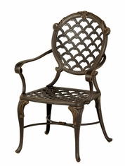 The Brevard Collection Commercial Cast Aluminum Stationary Dining Chair