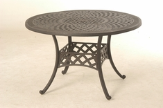"The Borio Collection Commercial Cast Aluminum 48"" Round Dining Table"