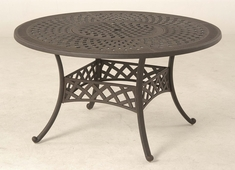 "The Borio Collection Commercial Cast Aluminum 54"" Round Dining Table With Inlaid Lazy Susan"