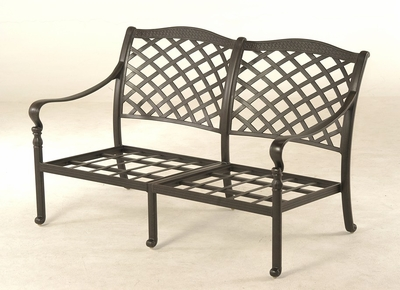 The Borio Collection Commercial Cast Aluminum Loveseat