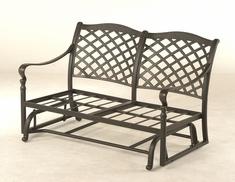 The Borio Collection Commercial Cast Aluminum Loveseat Glider