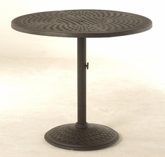 The Borio Collection Commercial Cast Aluminum Pedestal Bar Table