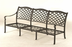 The Borio Collection Commercial Cast Aluminum Sofa