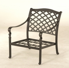 The Borio Collection Commercial Cast Aluminum Stationary Club Chair