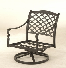 The Borio Collection Commercial Cast Aluminum Swivel Club Chair