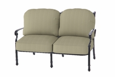 The Bouvier Collection Commercial Cast Aluminum Loveseat