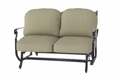The Bouvier Collection Commercial Cast Aluminum Loveseat Glider