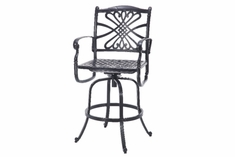 The Bouvier Collection Commercial Cast Aluminum Swivel Bar Height Chair