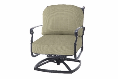 The Bouvier Collection Commercial Cast Aluminum Swivel Club Chair