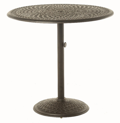 "The Boyton Collection Commercial Cast Aluminum 42"" Round Pedestal Bar Table"