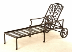 The Boyton Collection Commercial Cast Aluminum Chaise Lounge