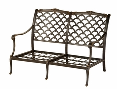 The Brevard Collection Commercial Cast Aluminum Loveseat