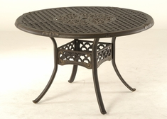 The Brevard Collection Commercial Cast Aluminum Round Dining Table