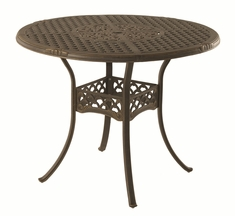 The Brevard Collection Commercial Cast Aluminum Round Pedestal Bar Height Table
