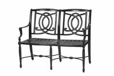 The Brielle Collection Commercial Cast Aluminum Bench