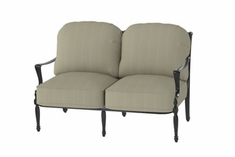 The Brielle Collection Commercial Cast Aluminum Loveseat