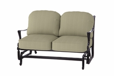 The Brielle Collection Commercial Cast Aluminum Loveseat Glider