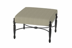 The Brielle Collection Commercial Cast Aluminum Ottoman