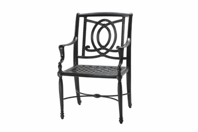 The Brielle Collection Commercial Cast Aluminum Stationary Dining Chair