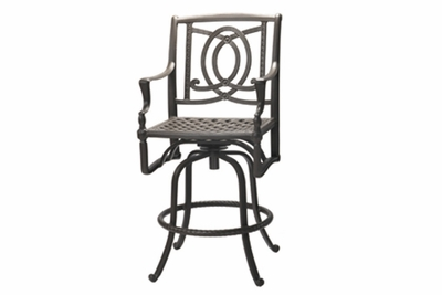 The Brielle Collection Commercial Cast Aluminum Swivel Counter Height Chair