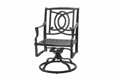 The Brielle Collection Commercial Cast Aluminum Swivel Dining Chair