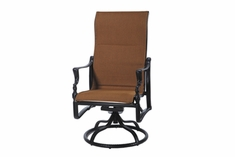 The Brielle Collection Commercial Padded Sling High Back Swivel Dining Chair