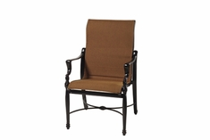 The Brielle Collection Commercial Padded Sling Standard Height Stationary Dining Chair