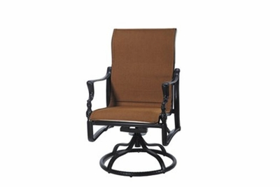 The Brielle Collection Commercial Padded Sling Standard Height Swivel Dining Chair