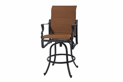 The Brielle Collection Commercial Padded Sling Swivel Bar Height Chair