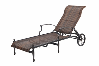 The Brielle Collection Commercial Wicker Chaise Lounge