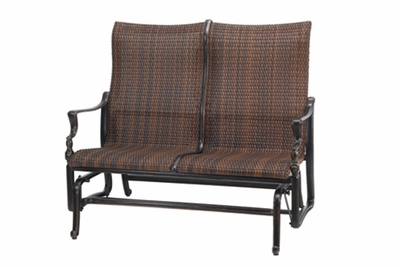 The Brielle Collection Commercial Wicker High Back Loveseat Glider