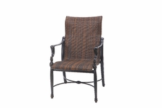 The Brielle Collection Commercial Wicker Standard Back Stationary Dining Chair