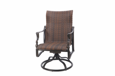 The Brielle Collection Commercial Wicker Standard Back Swivel Dining Chair