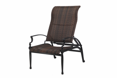 The Brielle Collection Commercial Wicker Stationary Reclining Chair