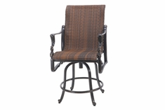 The Brielle Collection Commercial Wicker Swivel Counter Height Chair