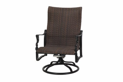 The Brielle Collection Commercial Wicker Swivel Rocker Club Chair