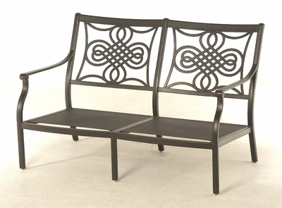 The Brio Collection Commercial Cast Aluminum Loveseat