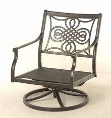 The Brio Collection Commercial Cast Aluminum Swivel Club Chair
