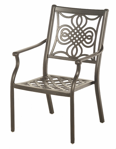 The Brio Collection Commercial Cast Aluminum Stationary Dining Chair