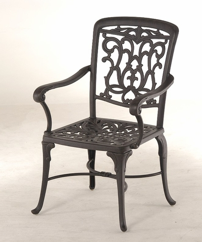 The Barbury Collection Commercial Cast Aluminum Stationary Dining Chair
