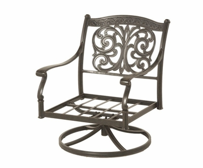 The Byanca Collection Commercial Cast Aluminum Swivel Club Chair