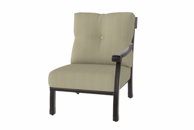 The Cadence Collection Commercial Cast Aluminum Left Arm Stationary Club Chair