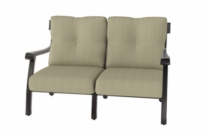 The Cadence Collection Commercial Cast Aluminum Loveseat