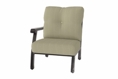 The Cadence Collection Commercial Cast Aluminum Right Arm Stationary Club Chair