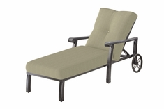The Cadence Collection Commercial Cast Aluminum Single Chaise Lounge